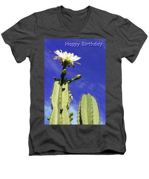 Happy Birthday Card And Print 19 Men's V-Neck T-Shirt