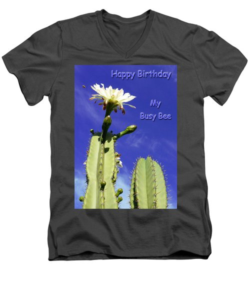 Happy Birthday Card And Print 20 Men's V-Neck T-Shirt