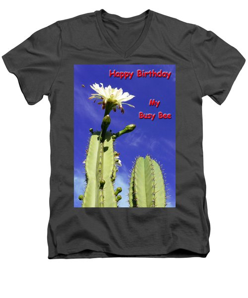 Happy Birthday Card And Print 21 Men's V-Neck T-Shirt