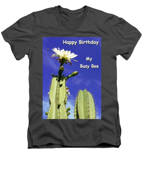 Happy Birthday Card And Print 22 Men's V-Neck T-Shirt
