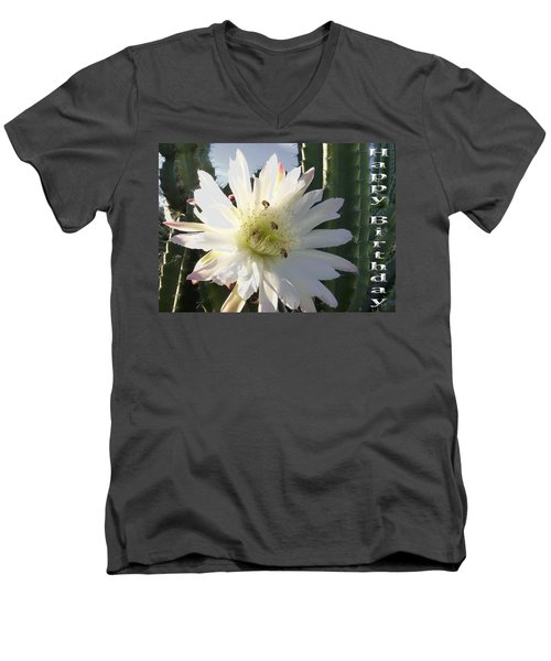 Men's V-Neck T-Shirt featuring the photograph Happy Birthday Card And Print 9 by Mariusz Kula