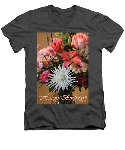 Happy Birthday Card Men's V-Neck T-Shirt