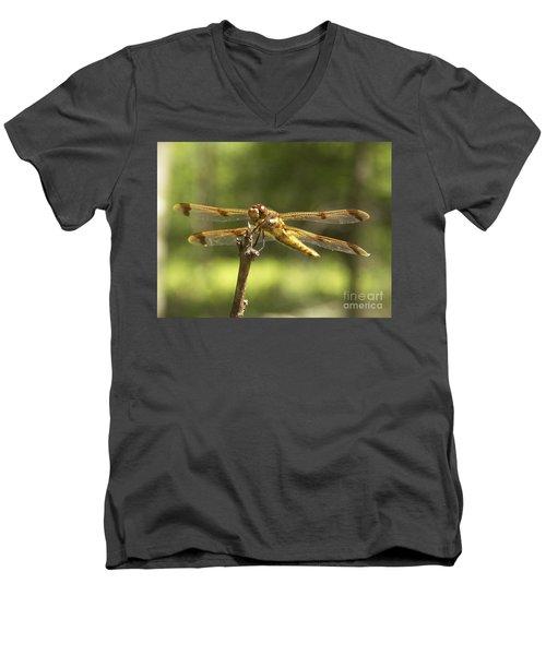 Happy Dragonfly Men's V-Neck T-Shirt