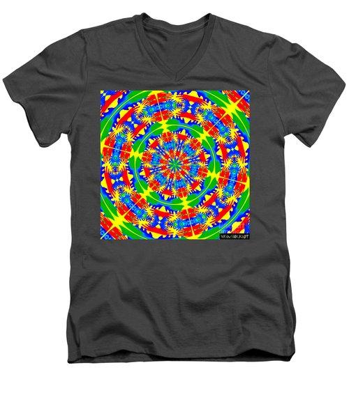 Happy Hands Mandala Men's V-Neck T-Shirt