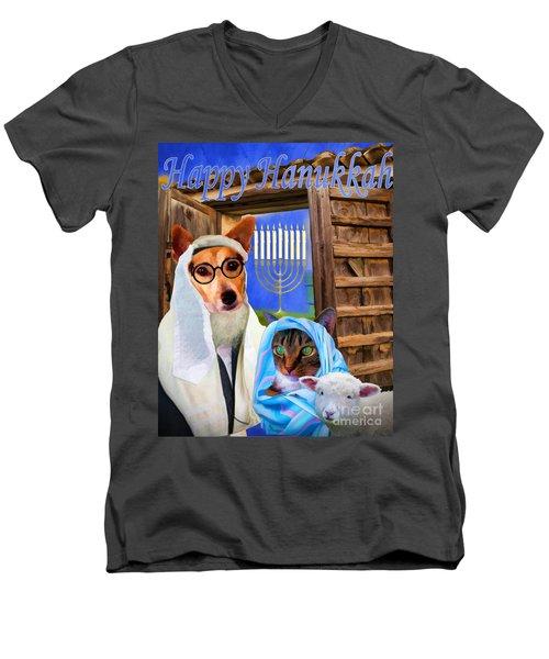 Happy Hanukkah  - 2 Men's V-Neck T-Shirt