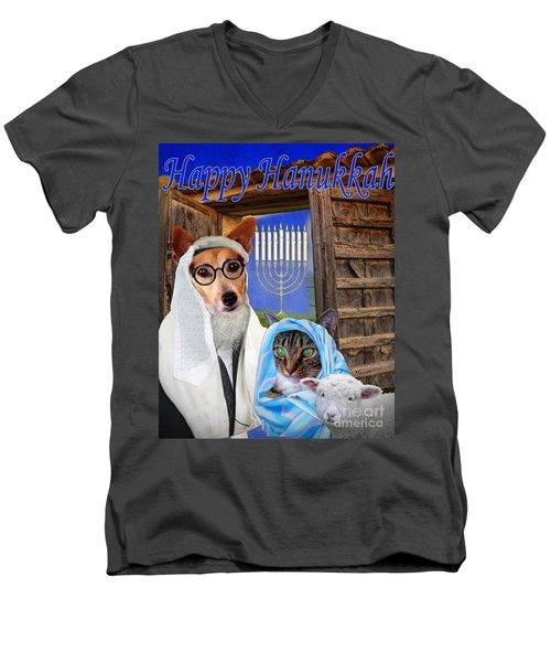 Happy Hanukkah -1 Men's V-Neck T-Shirt