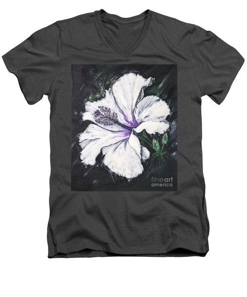 Happy Hibiscus Men's V-Neck T-Shirt