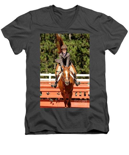 Happy Hunter Horse Men's V-Neck T-Shirt