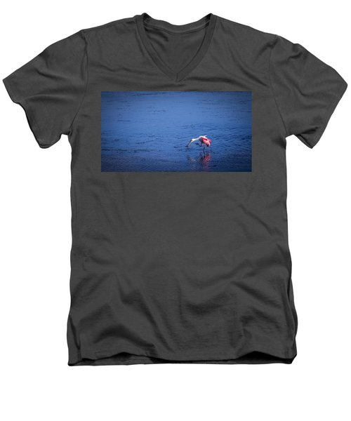 Happy Spoonbill Men's V-Neck T-Shirt