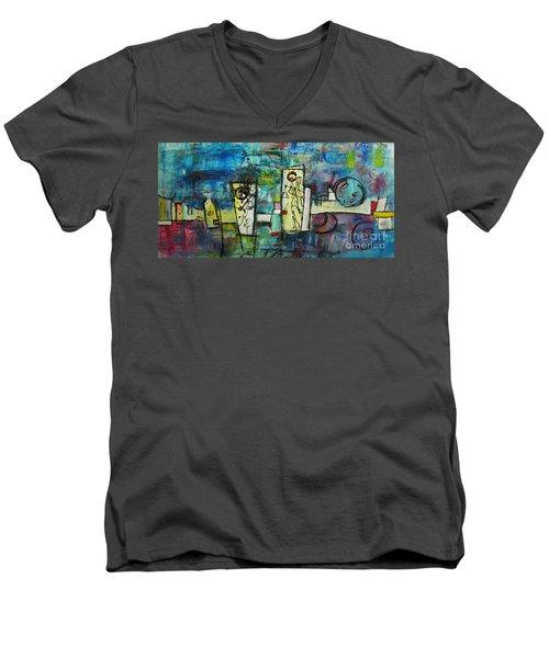 Happy Time Men's V-Neck T-Shirt