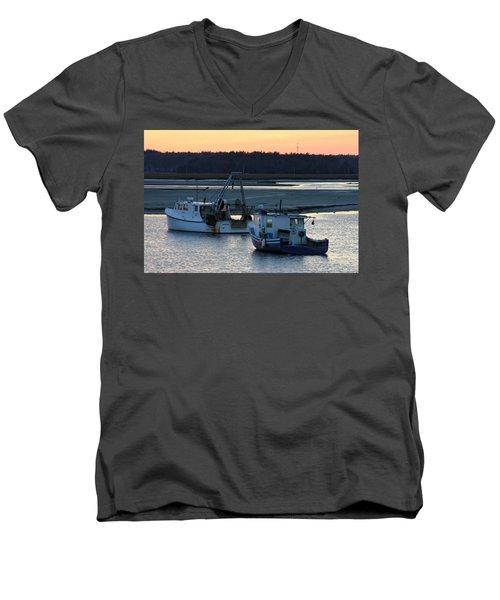 Harbor Nights Men's V-Neck T-Shirt by Denyse Duhaime