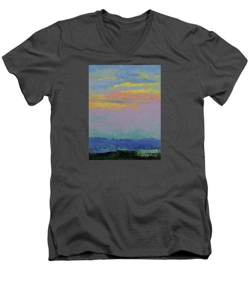 Harbor Sunset Men's V-Neck T-Shirt by Gail Kent