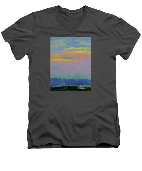 Harbor Sunset Men's V-Neck T-Shirt