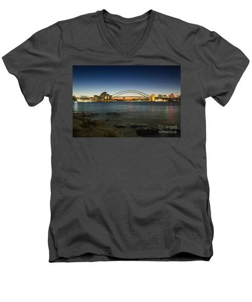 Harbour Night Men's V-Neck T-Shirt