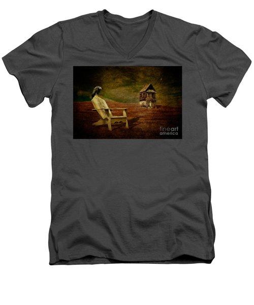 Hard Times Men's V-Neck T-Shirt by Lois Bryan