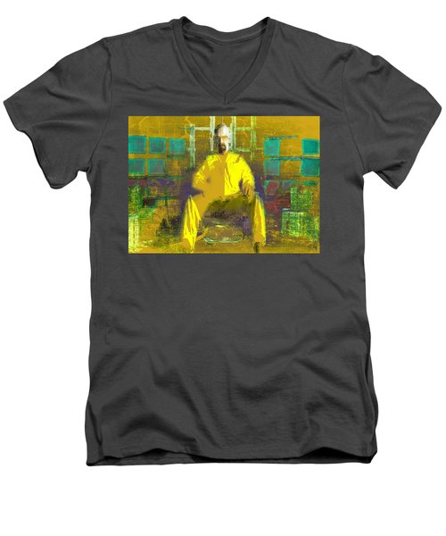 Men's V-Neck T-Shirt featuring the digital art Hard Work by Brian Reaves