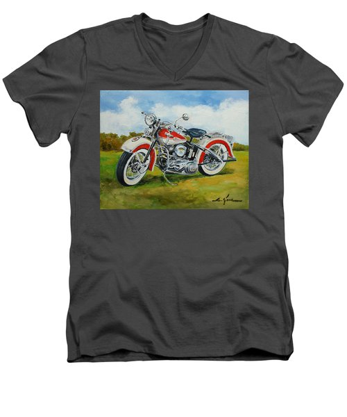 Harley Davidson 1943 Men's V-Neck T-Shirt