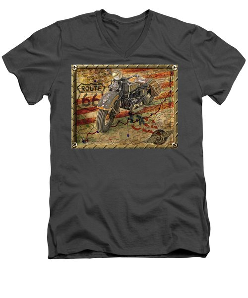 Harley On 66 Men's V-Neck T-Shirt