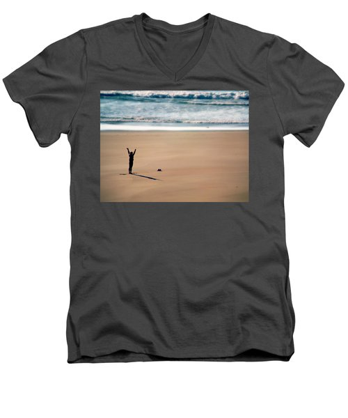 Men's V-Neck T-Shirt featuring the photograph Harmony  by Micki Findlay
