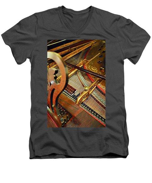 Harpsichord  Men's V-Neck T-Shirt
