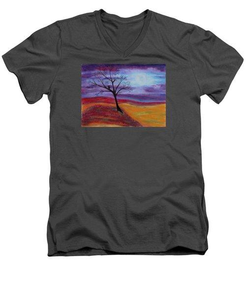 Harvest Moon 2 Men's V-Neck T-Shirt by Jeanne Fischer