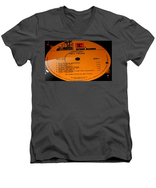 Harvest - Neil Young Side 1 Men's V-Neck T-Shirt by Marcello Cicchini
