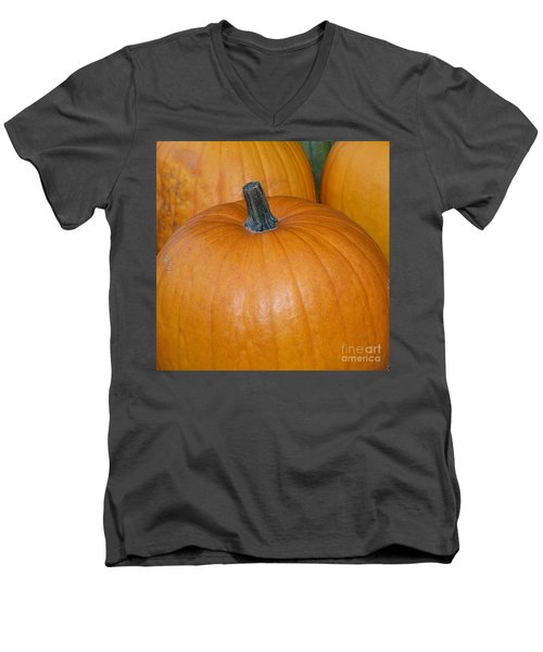 Men's V-Neck T-Shirt featuring the photograph Harvest Pumpkins by Chalet Roome-Rigdon