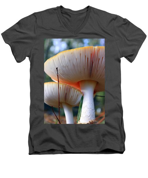 Hats On Men's V-Neck T-Shirt by Faith Williams