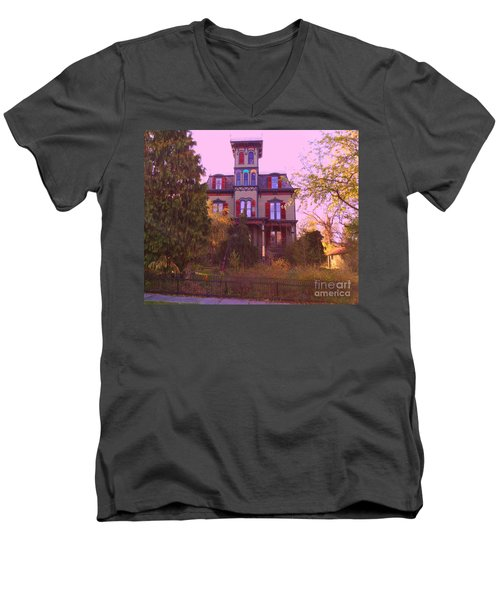 Men's V-Neck T-Shirt featuring the photograph Hauntingly Victorian 1 by Becky Lupe