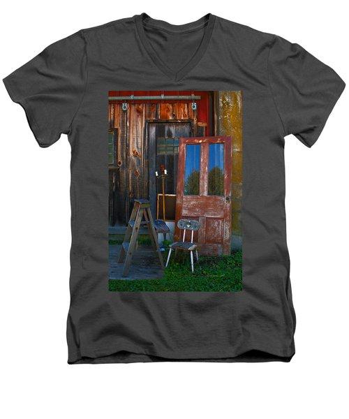 Have A Seat Men's V-Neck T-Shirt by Michael Porchik