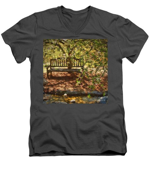 Have A Seat Men's V-Neck T-Shirt by Peggy Hughes