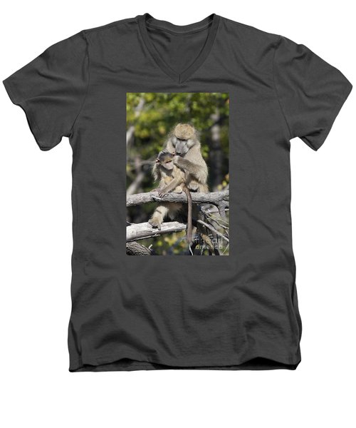 Men's V-Neck T-Shirt featuring the photograph Have You Cleaned Behind Your Ears by Liz Leyden