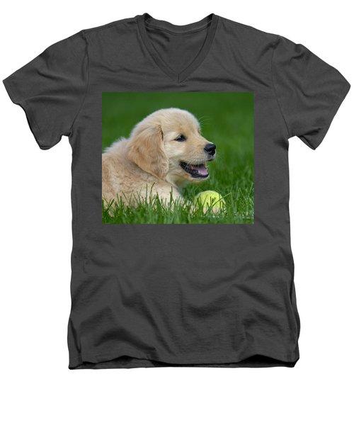 Having A Ball Men's V-Neck T-Shirt