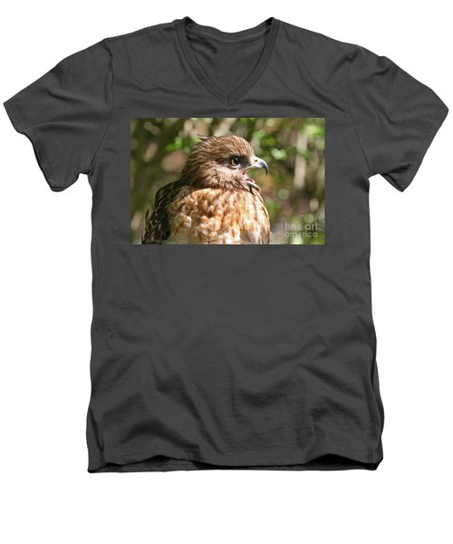 Hawk With An Attitude Men's V-Neck T-Shirt
