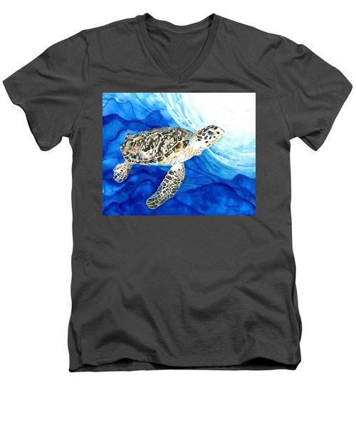 Hawksbill Sea Turtle 2 Men's V-Neck T-Shirt