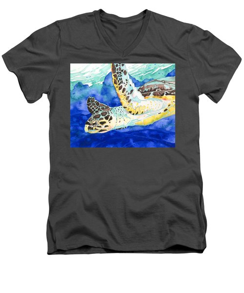 Hawksbill Sea Turtle Men's V-Neck T-Shirt