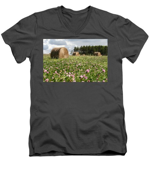 Hay Field Men's V-Neck T-Shirt