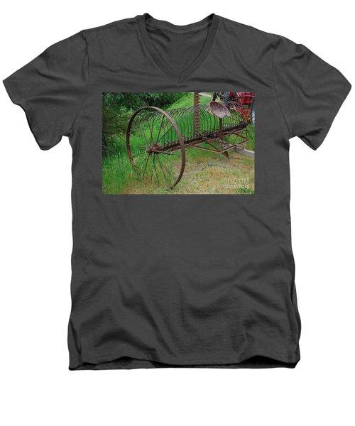 Hay Rake Men's V-Neck T-Shirt