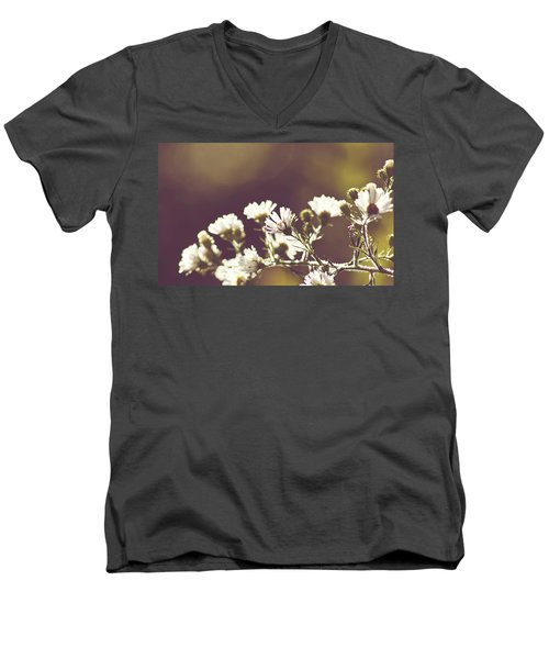 Hazy Days Men's V-Neck T-Shirt by Melissa Petrey