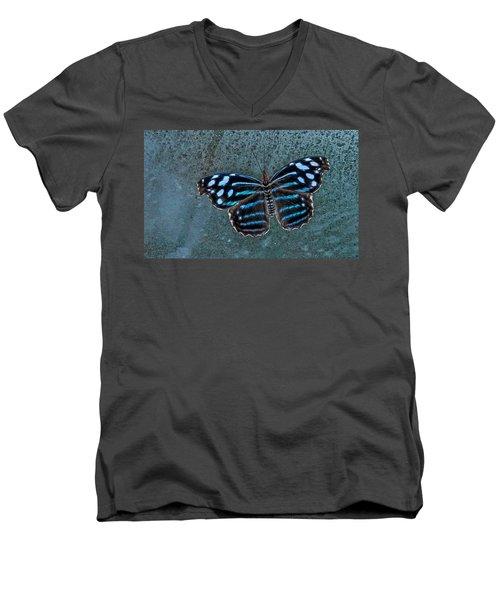 Hdr Butterfly Men's V-Neck T-Shirt by Elaine Malott
