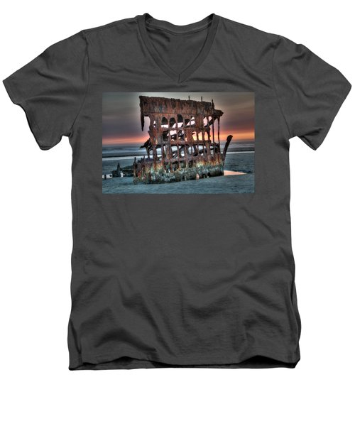 Hdr Peter Iredale Men's V-Neck T-Shirt by James Hammond