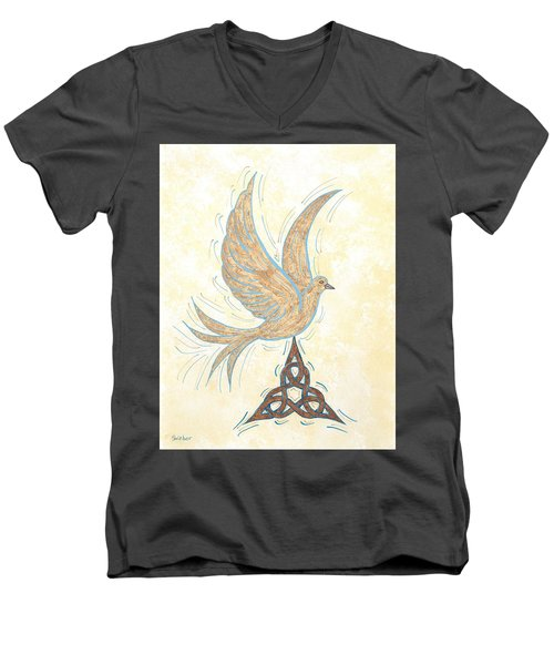 He Set Us Free Men's V-Neck T-Shirt by Susie WEBER