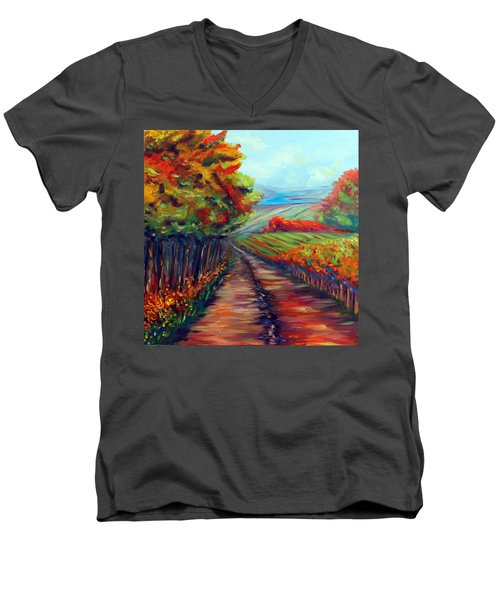 He Walks With Me Men's V-Neck T-Shirt