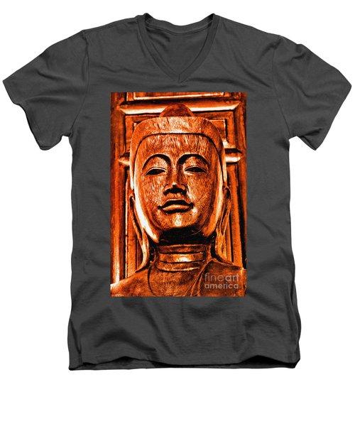 Head Of The Buddha Men's V-Neck T-Shirt