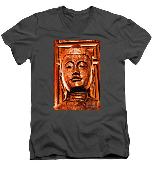 Head Of The Buddha Men's V-Neck T-Shirt
