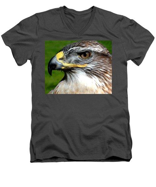 Head Portrait Of A Eagle Men's V-Neck T-Shirt