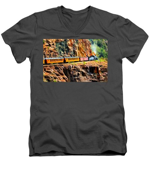 Headed Up The Grade Men's V-Neck T-Shirt by Michael Pickett