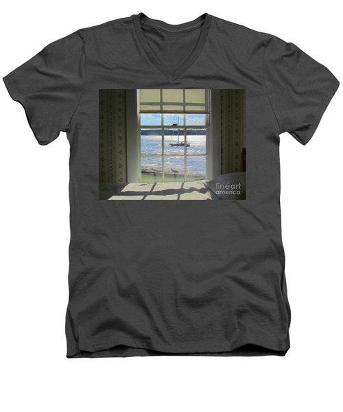Heading Home Men's V-Neck T-Shirt by Elizabeth Dow
