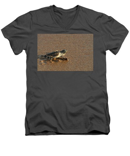 Men's V-Neck T-Shirt featuring the photograph Heading Out To Sea by Paul Rebmann