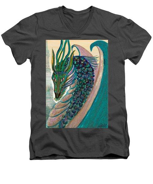 Healing Dragon Men's V-Neck T-Shirt by Michele Avanti